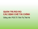 Bài giảng Quản trị rủi ro các định chế tài chính: Chương 3 - PGS.TS Trần Thị Thái Hà