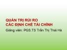 Bài giảng Quản trị rủi ro các định chế tài chính: Chương 8 - PGS.TS Trần Thị Thái Hà