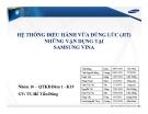 Thuyết trình: Hệ thống điều hành vừa đúng lúc (JIT) những vận dụng tại SAMSUNG VINA