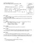 Đề thi môn Hóa học đại cương A1 K19M năm 2013-2014 - ĐH Văn Lang