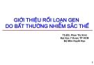 Bài giảng Huyết học: Giới thiệu rối loạn gen do bất thường nhiễm sắc thể - TS.BS. Phan Thị Xinh