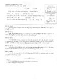 Đề thi môn Hóa học đại cương K19S năm 2013-2014 - ĐH Văn Lang