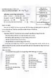 Đề thi môn Quản trị ngân hàng năm 2013-2014 - ĐH Văn Lang
