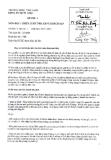 Đề thi môn Chiến lược nhà hàng khách sạn năm 2013-2014 - ĐH Văn Lang