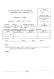 Đề thi môn Kết cấu công trình 1 năm 2013-2014 - ĐH Văn Lang