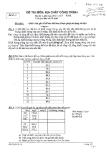 Đề thi môn Địa chất công trình năm 2013-2014 - ĐH Văn Lang