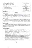 Đề thi môn Tài chính doanh nghiệp 2 năm 2013-2014 - ĐH Văn Lang