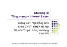 Bài giảng Mạng máy tính: Chương 3 - Ngô Hồng Sơn
