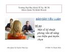 Tiểu luận hành vi tổ chức: Một số kỹ thuật phỏng vấn để nâng cao hiệu quả tuyển chọn