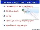 Bài giảng Vật lý đại cương: Chương 1 - Lê Văn Nam