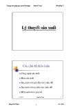 Bài giảng Kinh tế vi mô: Lý thuyết sản xuất - Đặng Văn Thanh