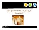 Thuyết trình: Chiến lược kinh doanh của công ty cổ phần bia - nước giải khát Sài Gòn (Sabeco)