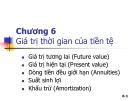 Bài giảng Quản trị tài chính - Chương 6: Giá trị thời gian của tiền tệ