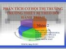 Thuyết trình: Phân tích cơ hội thị trường thiết bị theo dõi hành trình