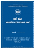 Đề tài nghiên cứu khoa học: Nghiên cứu thực nghiệm về các công cụ chính sách tiền tệ ở Việt Nam