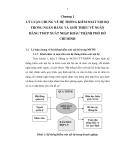 Nghiên cứu khoa học đề tài: Giải pháp nâng cao hiệu quả hoạt động của Hệ thống Kiểm soát nội bộ tại Hội sở Ngân hàng thương mại cổ phần Xuất nhập khẩu Thành phố Hồ Chí Minh
