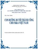 Đề tài: Con đường đi tới thành công cho M&A Việt Nam