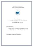 Nghiên cứu khoa học đề tài: Cấu trúc sở hữu, thành phần hội đồng quản trị và hiệu quả đầu tư - bằng chứng tại Việt Nam