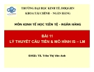Bài giảng Kinh tế học tiền tệ - ngân hàng: Bài 11 - TS. Trần Thị Vân Anh