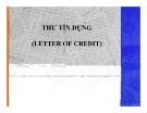 Bài giảng Thư tín dụng (letter of credit)