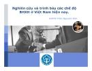 Thuyết trình: Nghiên cứu và trình bày các chế độ bảo hiểm xã hội ở Việt Nam hiện nay