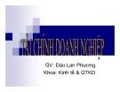 Bài giảng Tài chính doanh nghiệp: Chương 1 - GV. Đào Lan Phương