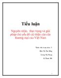 Tiểu luận: Nguyên nhân, thực trạng và giải pháp chủ yếu để cải thiện cán cân thương mại của Việt Nam
