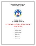 Bài tập nhóm Tài chính quốc tế: Vị thế của đồng USD qua các giai đoạn