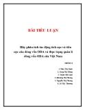 Bài tiểu luận: Hãy phân tích tác động tích cực và tiêu cực của dòng vốn ODA và thực trạng quản lí dòng vốn ODA của Việt Nam