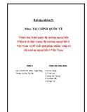 Bài tập nhóm Tài chính quốc tế: Trình bày khái quát thị trường ngoại hối. Phân tích thực trạng thị trường ngoại hối ở Việt Nam và đề xuất giải pháp nhằm củng cố thị trường ngoại hối ở Việt Nam