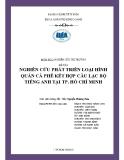 Tiểu luận Nghiên cứu thị trường: Nghiên cứu phát triển loại hình quán cà phê kết hợp câu lạc bộ tiếng Anh tại TP. Hồ Chí Minh