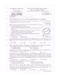 Đề thi Đại học môn Vật lí khối A & A1 năm 2014 (Mã đề 825)