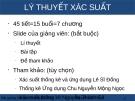 Bài giảng Lý thuyết xác suất thống kê - Nguyễn Văn Tiến