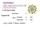 Bài giảng Hóa học đại cương: Chương I - Nguyễn Văn Đồng