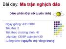 Bài giảng Ma trận nghịch đảo - Nguyễn thị Hồng Nhung