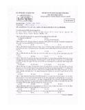 Đề thi Đại học môn Hóa học khối A năm 2014 (Mã đề 825)