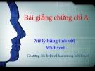 Bài giảng Chứng chỉ A: Buổi 3 - GV. Nguyễn Duy Sang