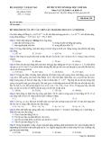 Đề thi Đại học môn Vật lí khối A & A1 năm 2014 (Mã đề 259)