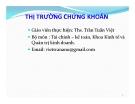 Bài giảng Thị trường chứng khoán: Chương 1 - ThS. Trần Tuấn Việt