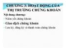 Bài giảng Thị trường chứng khoán: Chương 3 - ThS. Trần Tuấn Việt
