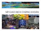 Bài giảng Thị trường tài chính - Chương 7: Sở giao dịch chứng khoán