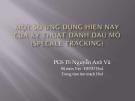 Bài giảng Một số ứng dụng hiện nay của kỹ thuật đánh dấu mô ( Speckle tracking) - PGS.TS. Nguyễn Anh Vũ