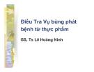 Bài giảng Điều tra vụ bùng phát bệnh từ thực phẩm - GS.TS. Lê Hoàng Ninh