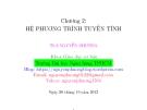 Bài giảng Đại số tuyến tính: Chương 2 - ThS. Nguyễn Phương