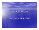 Bài giảng Luật chứng khoán 70 - 2006 -  Nghị định số 14/NĐ/2007