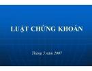 Bài giảng Luật chứng khoán (11 chương)