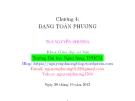 Bài giảng Đại số tuyến tính: Chương 4 - ThS. Nguyễn Phương