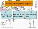 Bài giảng Thủy văn công trình: Chương I - Vũ Thị Minh Huệ