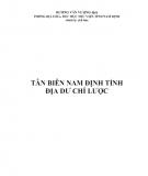 Ebook Tân biên Nam Định tỉnh địa dư chí lược: Phần 1 - Dương Văn Vượng (dịch)