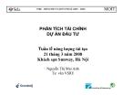 Báo cáo: Phân tích tài chính dự án đầu tư - Nguyễn Thị Mai Anh
